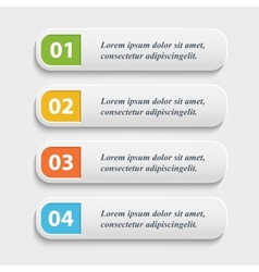 realistic Web buttonsbannerinfographic vector image vector image