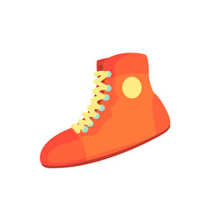 Red boxing shoes sports equipment colorful vector