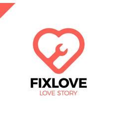 repair love logo design element vector image