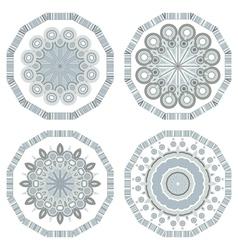 retro round mosaic vector image vector image