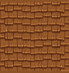 Seamless old brown wood roof tiles vector
