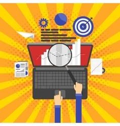 SEO optimization programming and web analytics vector image vector image