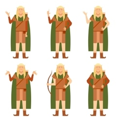 Set of fantasy elves vector
