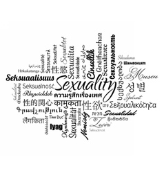 Sexuality word cloud vector