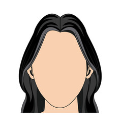 Silhouette faceless woman fashion hairstyle vector