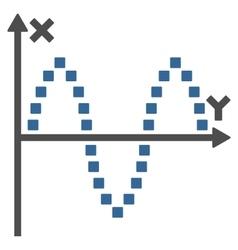 Sinusoid plot toolbar icon vector