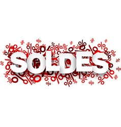 Soldes paper note over percent signs vector
