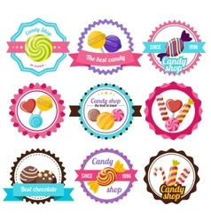 Sweet Candy Flat Emblem vector image vector image