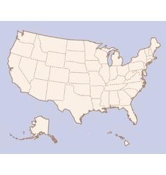 USA contour map vector image