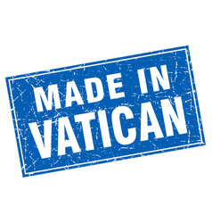 Vatican blue square grunge made in stamp vector
