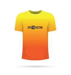 Yellow orange t-shirt vector