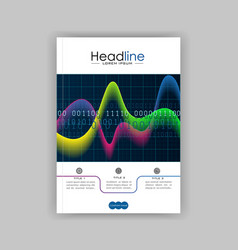 cover design template with glowing diagram and vector image