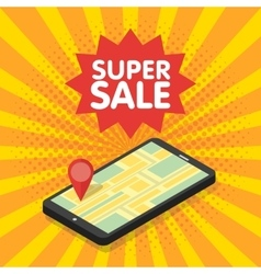 3d mobile digital marketing concept vector