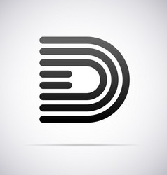 Logo for letter d vector