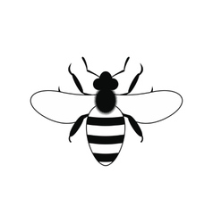 Bee black simple icon vector