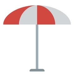 Striped beach umbrella vector