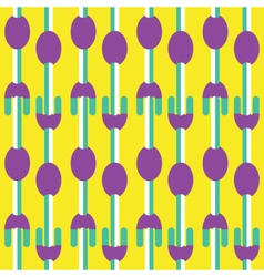 Seamless fork and spoon pattern vector