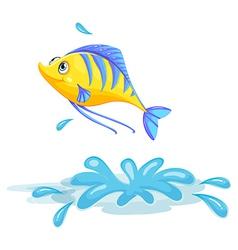 A yellow fish vector