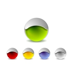 Abstract 3d balls logo design vector