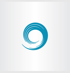 blue swirl wave vector image vector image