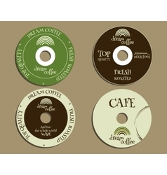 Brand identity elements - cd dvd templates sign vector