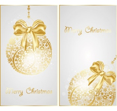 christmas gold banners vector image vector image