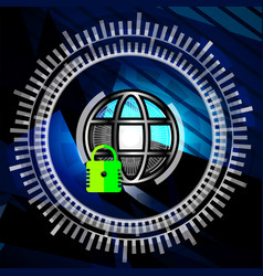 Cyber security closed padlock vector