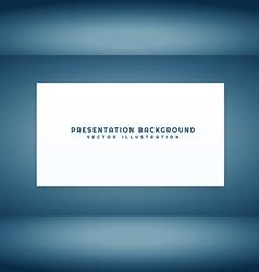 Empty presentation room vector