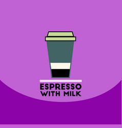 Flat icon design collection espresso with vector