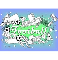 Football coloring book vector