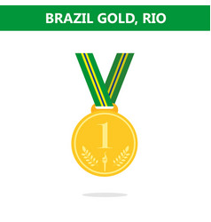 Gold medal brazil rio olympic games 2016 vector