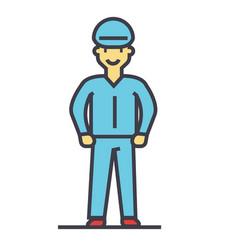 industrial worker craftsman repairman concept vector image