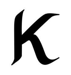 letter k painted brush vector image