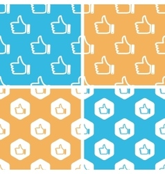 Like pattern set colored vector