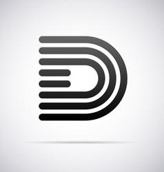 Logo for letter D vector image