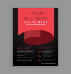 minimal red curl page style brochure design vector image vector image