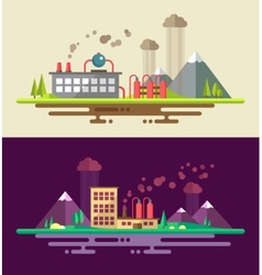Modern flat design ecological conceptual landscape vector image