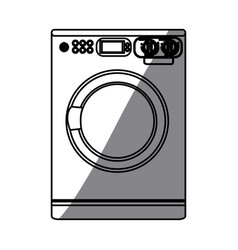 monochrome silhouette of washing machine vector image vector image
