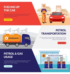 Petrol station banners set vector