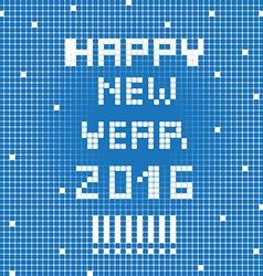 pixel happy 2016 vector image vector image