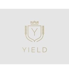 Premium monogram letter y initials ornate vector