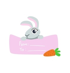 Rabbit With The Template For The Message vector image