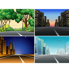 Road scene vector image