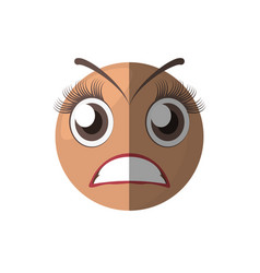 Scared emoticon cartoon design vector