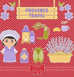 Set of elements in the style of provence vector