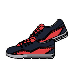 Sneakers pair icon image vector