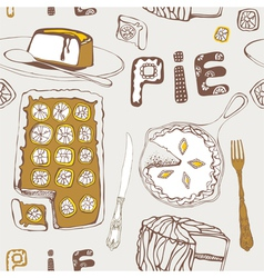 Lemon pie seamless pattern vector