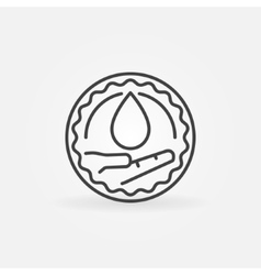 Charity blood donation badge vector