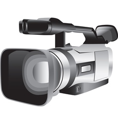 3d of a semi-professional video camera vector