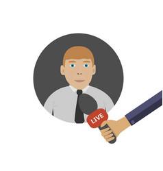 interview online vector image